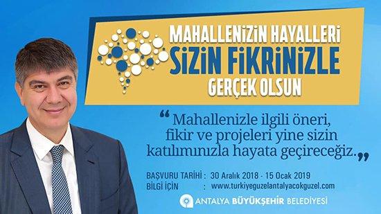 Büyükşehir Belediye Başkanı Menderes Türel Antalya'yı Antalyalılarla yönetiyor