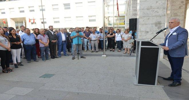 Nilüfer Belediyesi çalışanları erken bayramlaştı