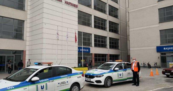 Ulaşım ekipleri bayramda sağlık çalışanlarını unutmadı