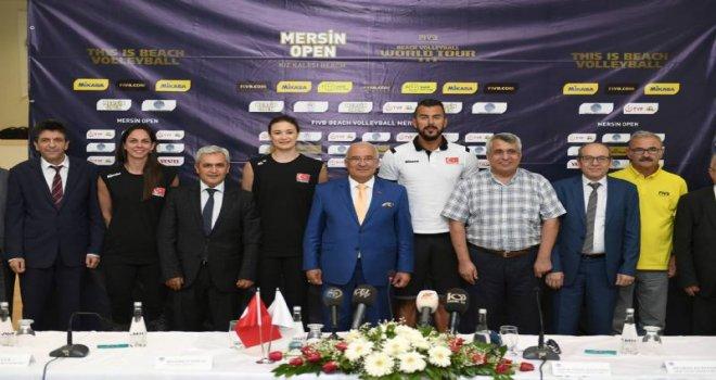 Plaj Voleybol Dünya Turu 3 Yıldız Mersin Türkiye'nin Tanıtım Toplantısı Gerçekleştirildi