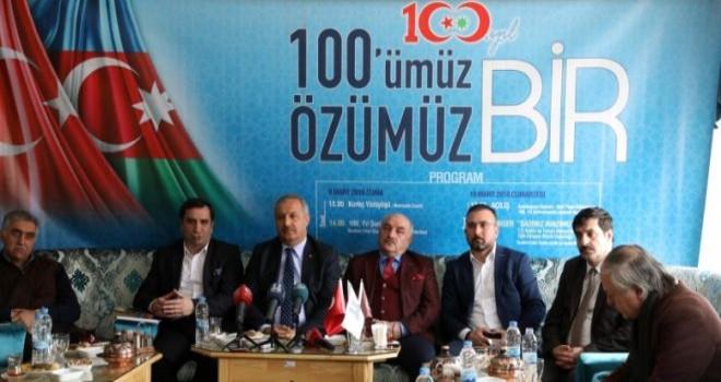 Erzurum'da program : '100'MÜZ ÖZÜMÜZ BİR'