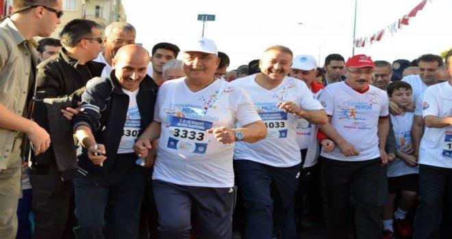 65 Bin Kişi Barış, Huzur Ve Kardeşlik İçin Koştu, Mersin Tek Yürek Oldu