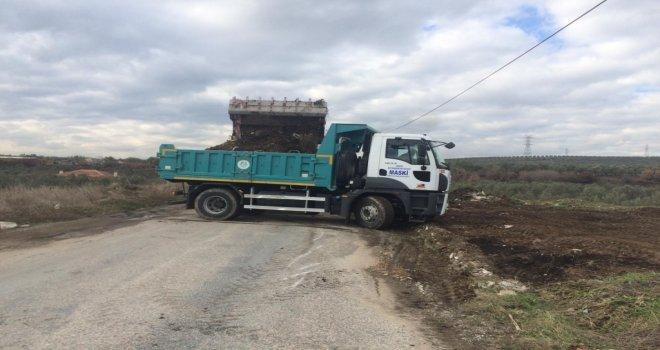 Büyükşehir Belediyesi Soma'da Hafriyat Temizliği Yaptı