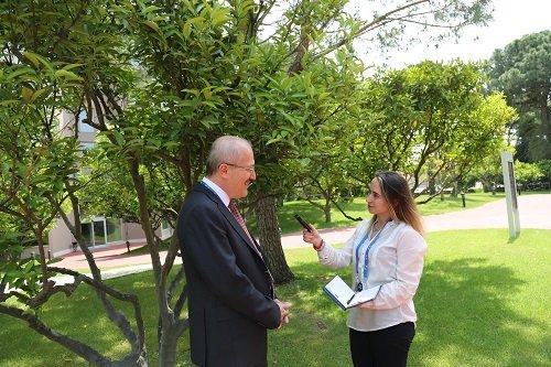 """Başkan Kafaoğlu Antalya'da düzenlenen """"MBB 2018 Yılı 1. Olağan Meclis Toplantısı sonrasında BelediyeDeniz ekibinin sorularını yanıtladı. Balıkesir Büyükşehir Belediye Başkanı Zekai Kafaoğlu'nun Beledi"""