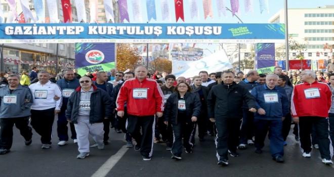 """Gaziantep ,""""Kurtuluş Koşusu""""na yaklaşık 35 bin sporcu kayıt yaptırdı."""