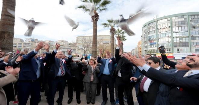 Kent Konseyi Engelliler Meclisi ,1000 güvercin uçurdu.