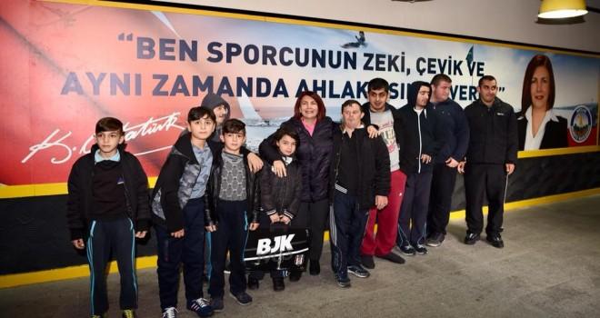 """Başkan Benli, """"Engelsiz Spor """" etkinliğinde gençlerle buluştu."""