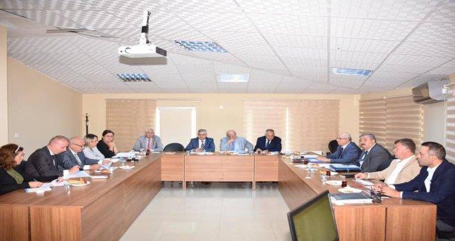 Yatırımlarla İlgili Değerlendirme Toplantısı Düzenledi