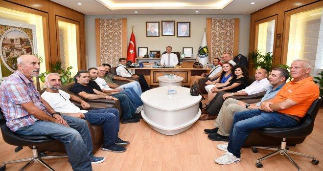 Dağcılık Branşı Sporcularından Başkan Taban'a Ziyaret