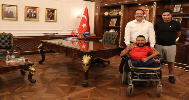 Bedensel Engelliler Gençlik ve Spor Kulübü'nden Başkan Atilla'ya Ziyaret
