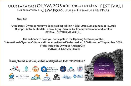 Olympos'ta kültür ve edebiyat şöleni