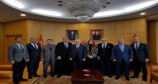 Başkan Hüseyin Sözlü'den MHP Lideri Bahçeli'ye ziyaret