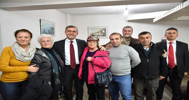 BAŞKAN TÜRKMEN , ALTUNİZADE SİTE 61'İ ZİYARET ETTİ
