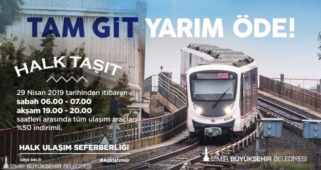 """İzmir'de """"Halk Taşıt"""" uygulaması 29 Nisan'dan itibaren başlıyor"""
