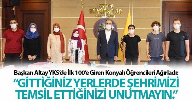 Başkan Altay YKS'de İlk 100'e Giren Konyalı Öğrencileri Ağırladı