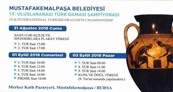 Uluslararası Dama Şampiyonası başlıyor
