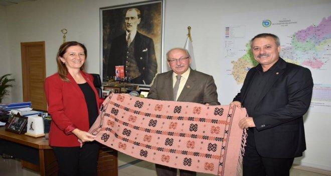 Başkan Albayrak'a DİSK Genel Başkanı Arzu Çerkezoğlu'ndan Ziyaret