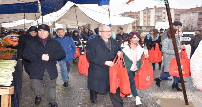 Bez Çanta Dağıtımı Kapaklı ve Çerkezköy'de Devam Etti