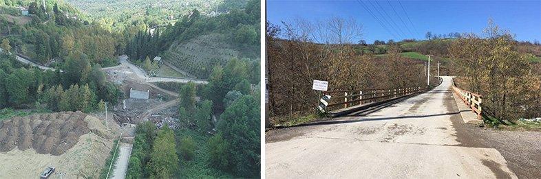Gölcük Siretiye-Mamuriye köprü çalışması sürüyor 7 köyün ulaşımını sağlıyor