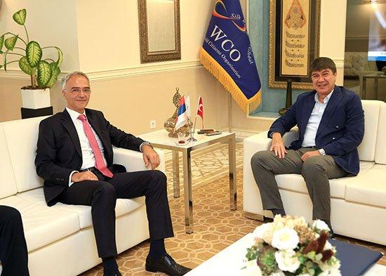 Sırbistan Büyükelçisi Türel'i ziyaret etti