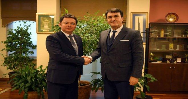 Osmangazi Belediye Başkanı Mustafa Dündar, Erkan Aydın'ı Ağırladı
