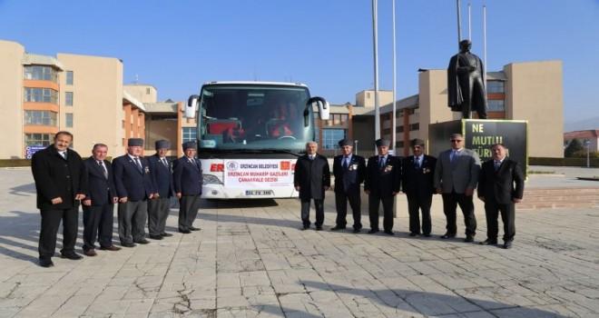 Erzincan Belediyesi   tarafından Muharip Gazilerimize Çanakkale gezisi düzenlendi.