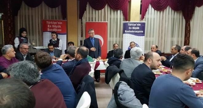 Belediye Başkanı Arslan,sendikalarla buluştu.