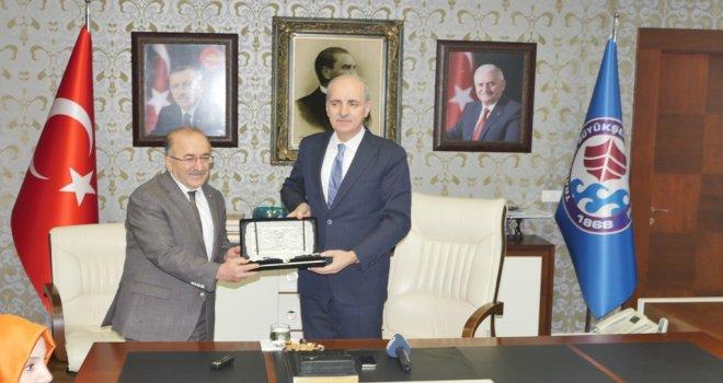 Numan Kurtulmuş, Başkan Gümrükçüoğlu'nu ziyaret etti
