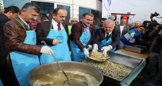 Rize'de 3. Geleneksel Hamsi Festivali düzenlendi.